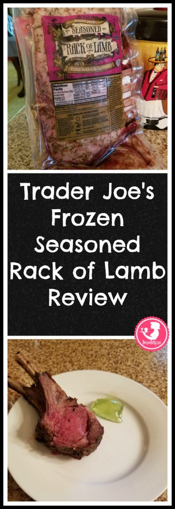 Trader Joe's frozen Seasoned Rack of Lamb review. Want to know if this is something worth buying from Trader Joe's? All pins link to BecomeBetty.com where you can find reviews, pictures, thoughts, calorie counts, nutritional information, how to prepare, allergy information, price, and how to prepare each product.