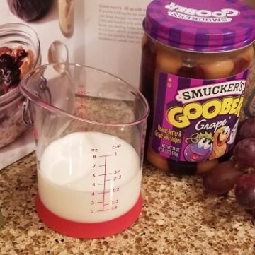 PB and J Overnight Oats (not in a jar)