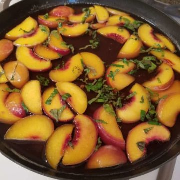 Wine Poached Peaches