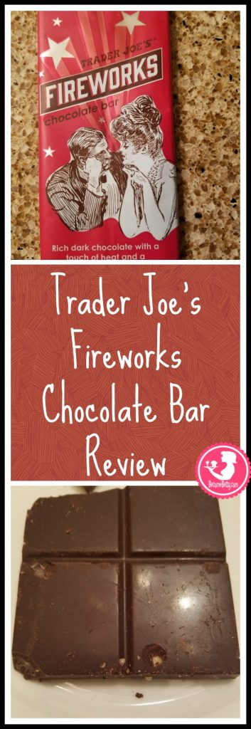 Trader Joe's Fireworks Chocolate Bar Review. Want to know if this is something worth buying from Trader Joe's? All pins link to BecomeBetty.com where you can find reviews, pictures, thoughts, calorie counts, nutritional information, how to prepare, allergy information, price, and how to prepare each product.
