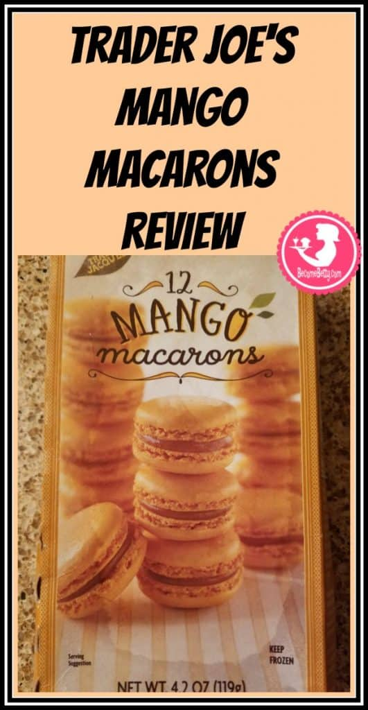 Trader Joe's Mango Macarons review. Want to know if this is something worth putting on your shopping list from Trader Joe's? All pins link to BecomeBetty.com where you can find reviews, pictures, thoughts, calorie counts, nutritional information, how to prepare, allergy information, price, and how to prepare each product.