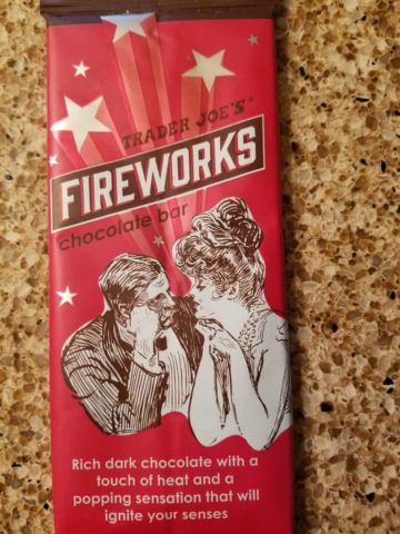 Trader Joes Fireworks Chocolate Bar