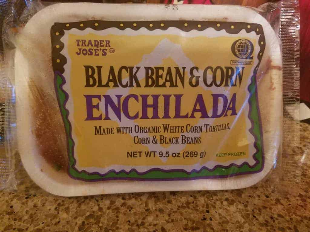 Trader Joe's Black Bean and Corn Enchilada