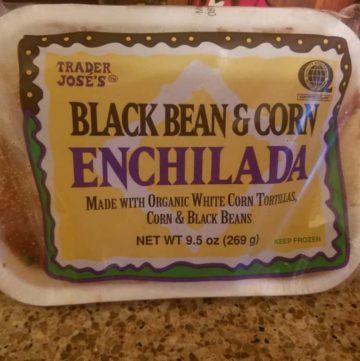 Trader Joe's Black Bean and Corn Enchilada