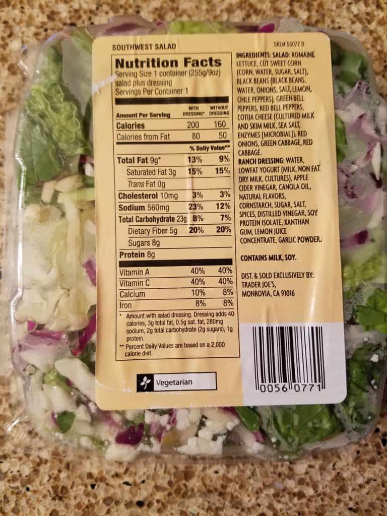 Trader Joe's Southwest Salad