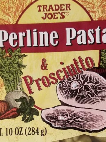 Trader Joes Perline Pasta and Prosciutto