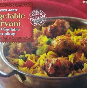 Trader Joe's Vegetable Biryani