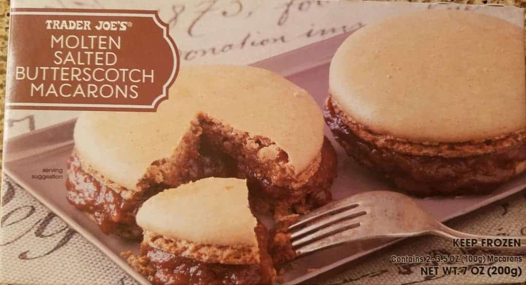Trader Joe's Molten Salted Butterscotch Macarons unopened box