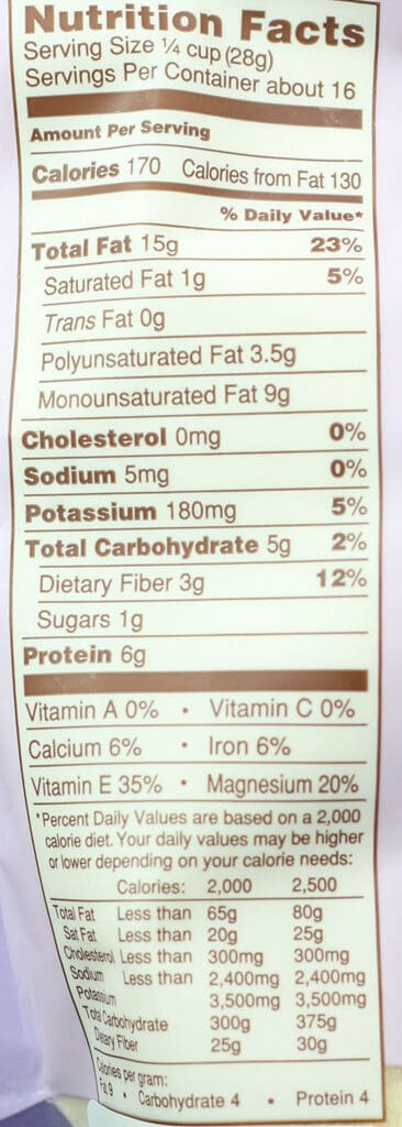 Trader Joe's Blanched Almond Flour nutritional information