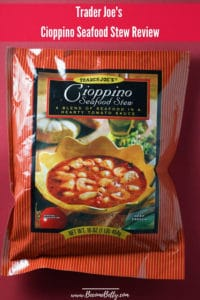 Trader Joe's Cioppino Seafood Stew review Pin for Pinterest
