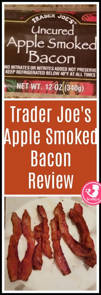 Trader Joe's Uncured Apple Smoked Bacon review. Want to know if this is something worth putting on your shopping list from Trader Joe's? All pins link to BecomeBetty.com where you can find reviews, pictures, thoughts, calorie counts, nutritional information, how to prepare, allergy information, price, and how to prepare each product.