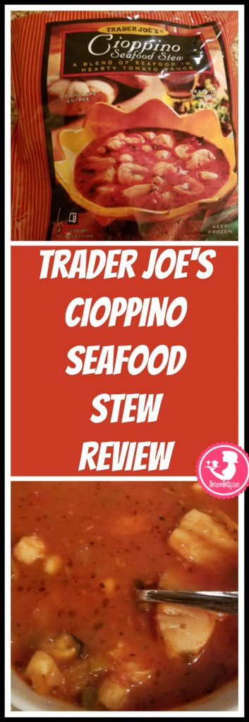 Trader Joe's Cioppino Seafood Stew is found in the freezer aisle. Want to know if this is something worth putting on your shopping list from Trader Joe's? All pins link to BecomeBetty.com where you can find reviews, pictures, thoughts, calorie counts, nutritional information, how to prepare, allergy information, price, and how to prepare each product.