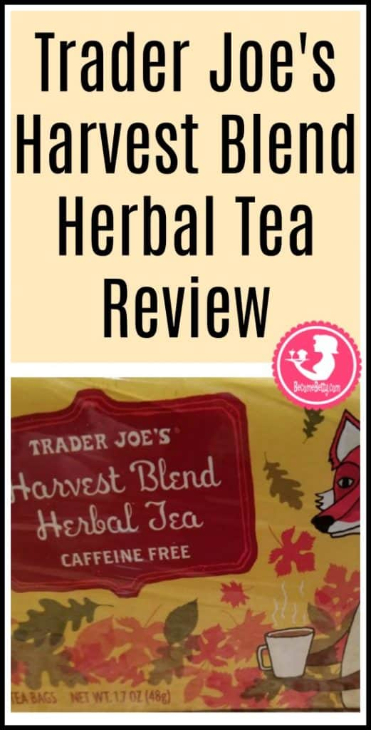Trader Joe's Harvest Blend Herbal Tea is caffeine free and the review is posted. Want to know if this is something worth putting on your shopping list from Trader Joe's? All pins link to BecomeBetty.com where you can find reviews, pictures, thoughts, calorie counts, nutritional information, how to prepare, allergy information, price, and how to prepare each product.