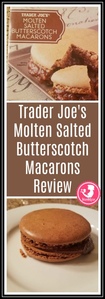 Trader Joe's Molten Butterscotch Macarons review. Want to know if this is something worth putting on your shopping list from Trader Joe's? All pins link to BecomeBetty.com where you can find reviews, pictures, thoughts, calorie counts, nutritional information, how to prepare, allergy information, price, and how to prepare each product.