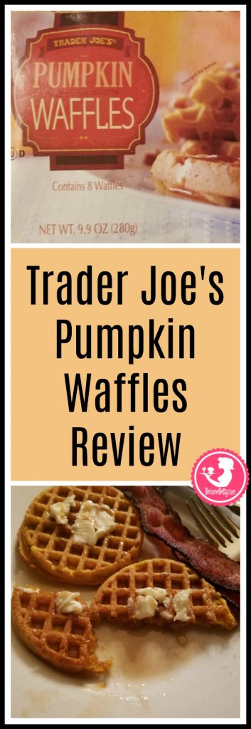 Trader Joe's Pumpkin Waffles review of this seasonal freezer item. Want to know if this is something worth putting on your shopping list from Trader Joe's? All pins link to BecomeBetty.com where you can find reviews, pictures, thoughts, calorie counts, nutritional information, how to prepare, allergy information, price, and how to prepare each product.