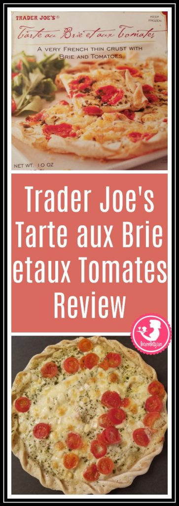 Trader Joe's Tarte aux Tomates or Tomato tart review. Want to know if this is something worth putting on your shopping list from Trader Joe's? All pins link to BecomeBetty.com where you can find reviews, pictures, thoughts, calorie counts, nutritional information, how to prepare, allergy information, price, and how to prepare each product.