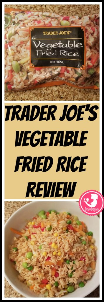 Trader Joe's Vegetable Fried Rice review. Want to know if this is something worth putting on your shopping list from Trader Joe's? All pins link to BecomeBetty.com where you can find reviews, pictures, thoughts, calorie counts, nutritional information, how to prepare, allergy information, price, and how to prepare each product.