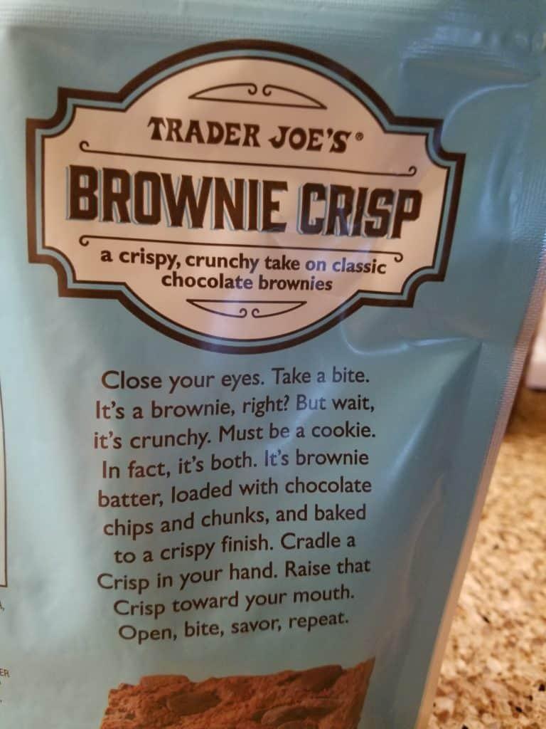 Trader Joes Brownie Crisps