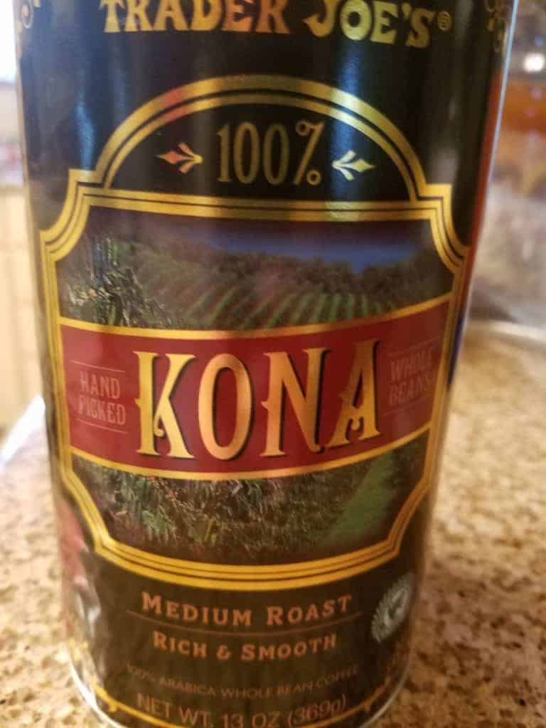 Trader Joe's Kona Coffee