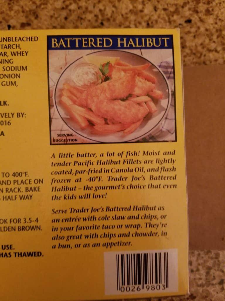 Trader Joe's Battered Halibut