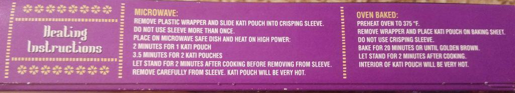 Trader Joe's Aloo Chaat Kati Pouches