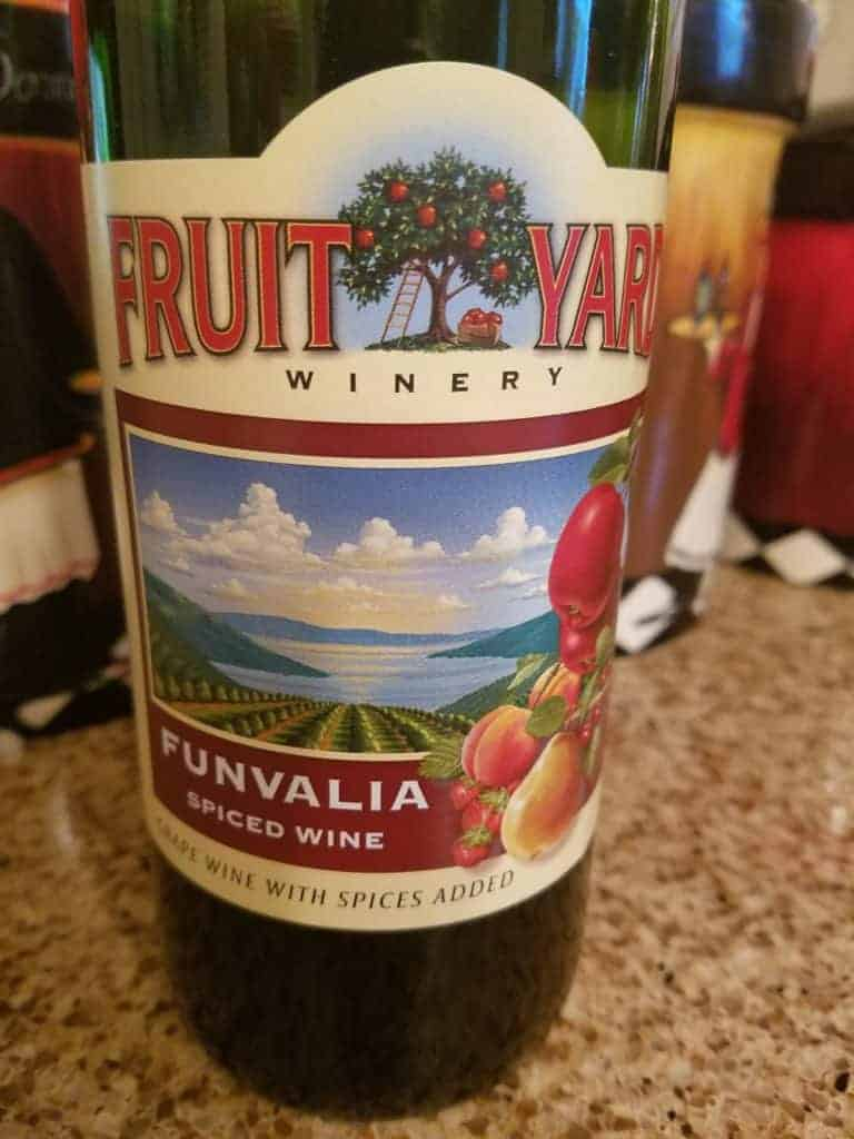 Fruit Yard Winery's Funvalia Spiced Wine