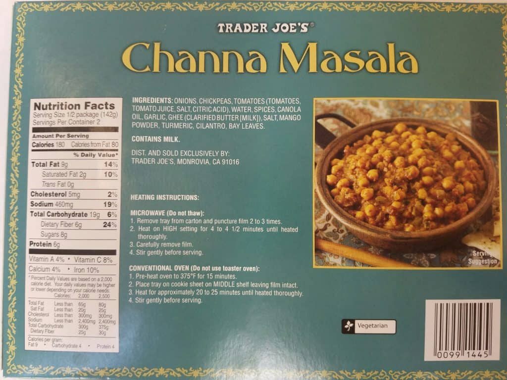 Trader Joe's Channa Masala
