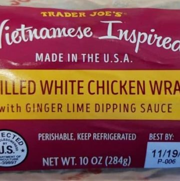 Trader Joe's Vietnamese Inspired Grilled White Chicken Wrap