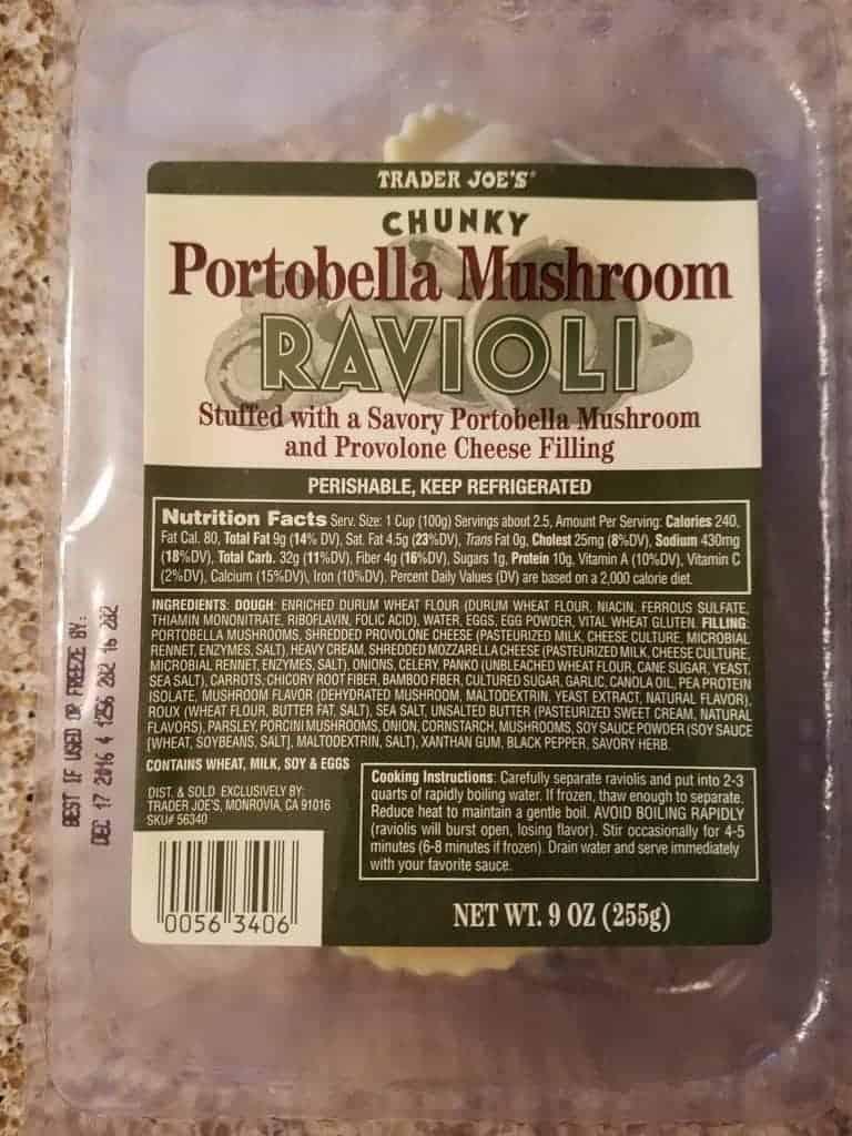 Trader Joe's Chunky Portobello Mushroom Ravioli