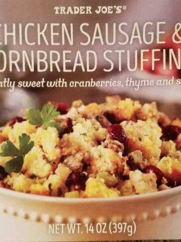 Trader Joe's Chicken Sausage and Cornbread Stuffing