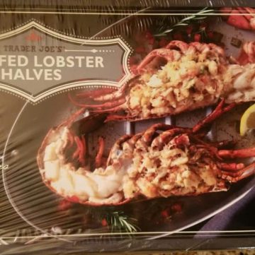 Trader Joe's Stuffed Lobster Halves filled with Lobster, Crab, and Langostinos