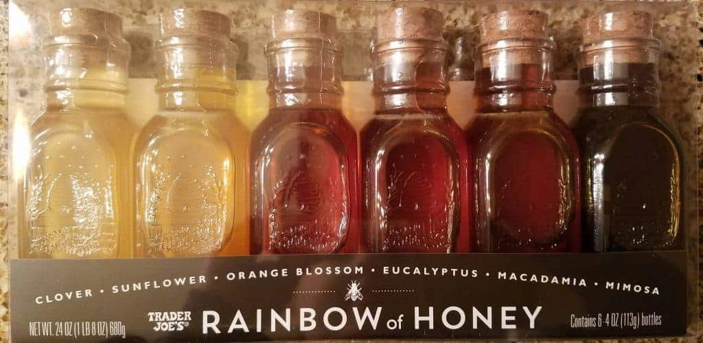 A new package of Trader Joes Rainbow of Honey