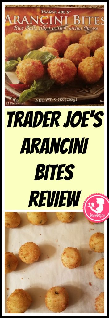 Trader Joe's Arancini review. Want to know if this is something worth putting on your shopping list from Trader Joe's? All pins link to BecomeBetty.com where you can find reviews, pictures, thoughts, calorie counts, nutritional information, how to prepare, allergy information, price, and how to prepare each product.