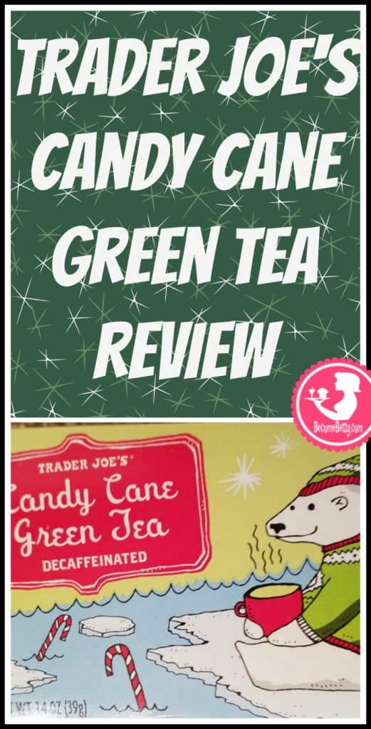 Trader Joe's Candy Cane Green Tea is seasonal and appears around the holiday time. My review follows. Want to know if this is something worth putting on your shopping list from Trader Joe's? All pins link to BecomeBetty.com where you can find reviews, pictures, thoughts, calorie counts, nutritional information, how to prepare, allergy information, price, and how to prepare each product.