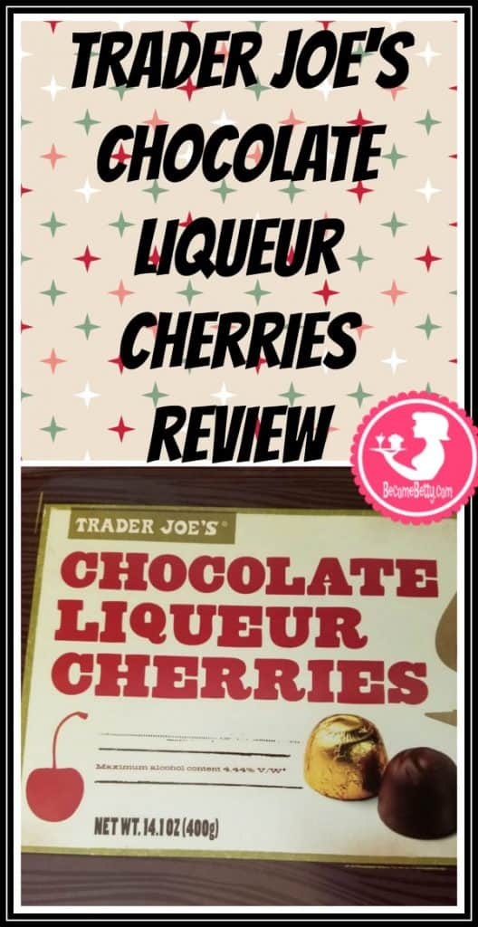 Trader Joe's Chocolate Liqueur Cherries will require ID and are a seasonal treat. My full review is posted. Want to know if this is something worth putting on your shopping list from Trader Joe's? All pins link to BecomeBetty.com where you can find reviews, pictures, thoughts, calorie counts, nutritional information, how to prepare, allergy information, price, and how to prepare each product.