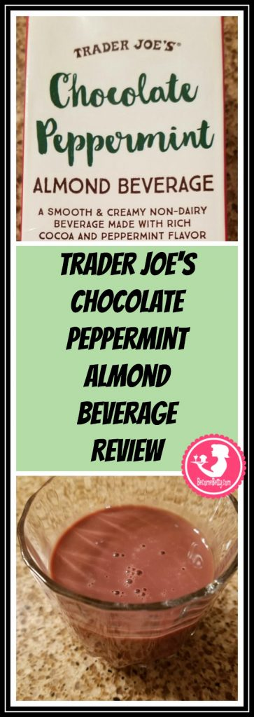 Trader Joe's Chocolate Peppermint Almond Beverage is vegan and kosher. It's also a winter seasonal item. My review follows. Want to know if this is something worth putting on your shopping list from Trader Joe's? All pins link to BecomeBetty.com where you can find reviews, pictures, thoughts, calorie counts, nutritional information, how to prepare, allergy information, price, and how to prepare each product.