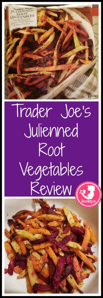 Trader Joe's Julienned Root Vegetables review. Want to know if this is something worth putting on your shopping list from Trader Joe's? All pins link to BecomeBetty.com where you can find reviews, pictures, thoughts, calorie counts, nutritional information, how to prepare, allergy information, price, and how to prepare each product.