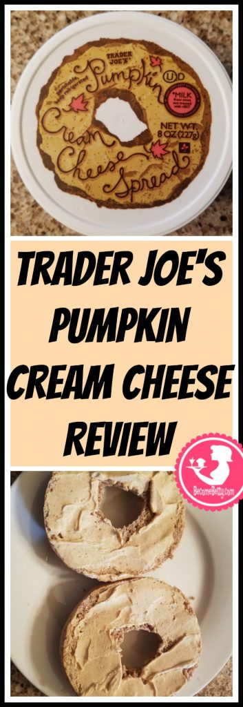 Trader Joe's Pumpkin Cream Cheese Spread is a seasonal classic at Trader Joe's that makes its way onto the shelves in the Fall. My review follows. Want to know if this is something worth putting on your shopping list from Trader Joe's? All pins link to BecomeBetty.com where you can find reviews, pictures, thoughts, calorie counts, nutritional information, how to prepare, allergy information, price, and how to prepare each product.