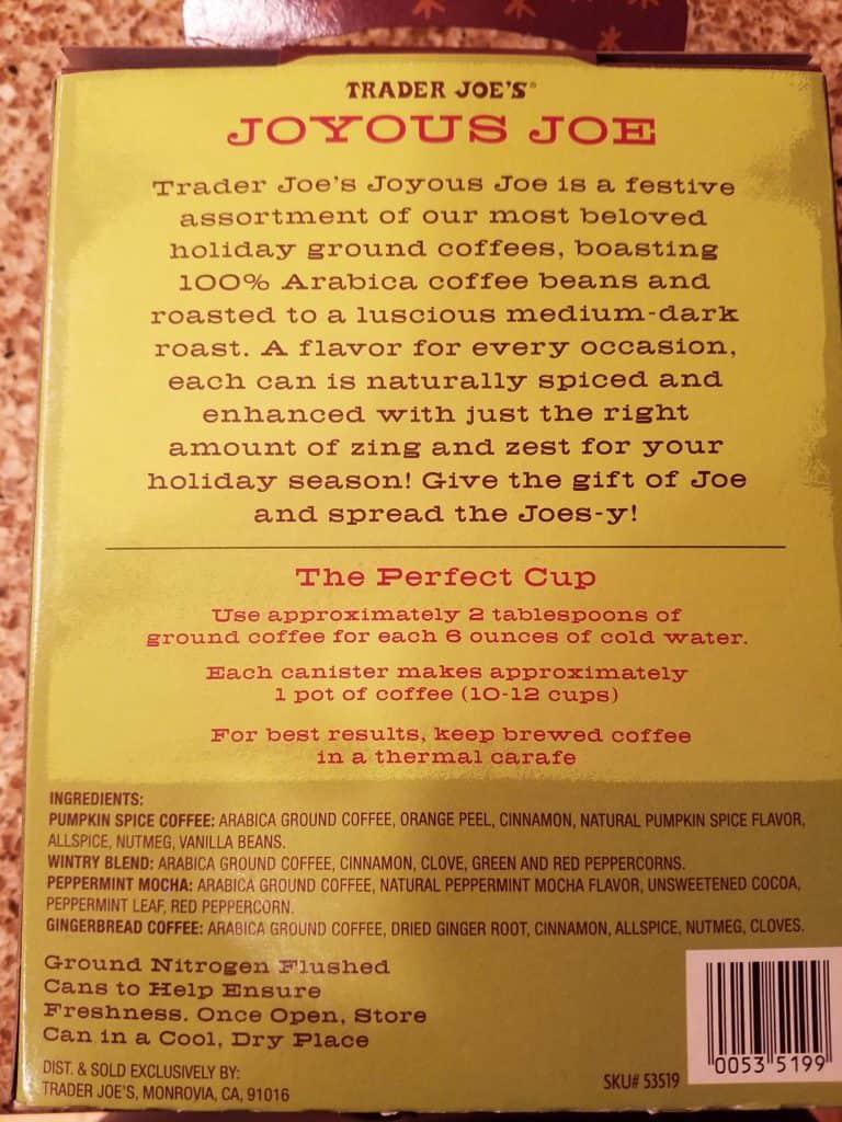 Trader Joe's Joyous Joe