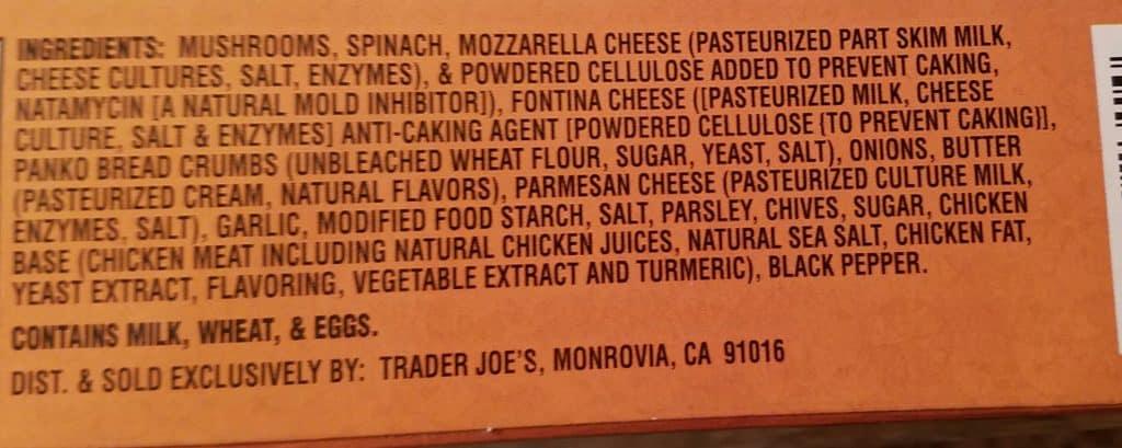 Trader Joe's Spinach and Cheese Stuffed Mushrooms