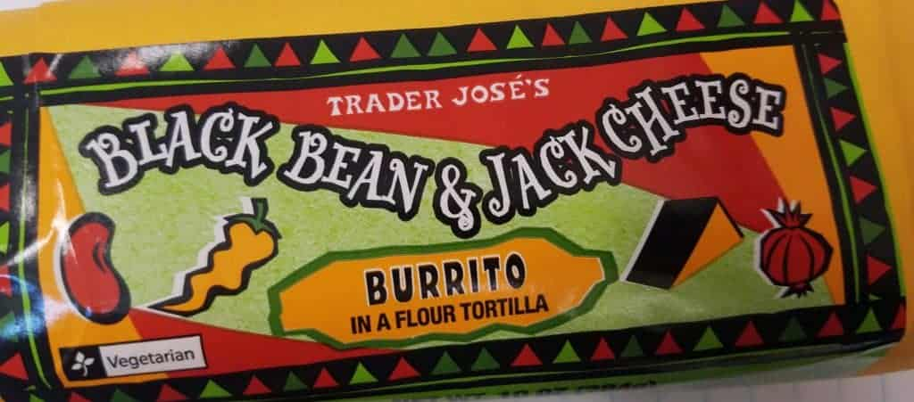 Trader Joe's Black Bean and Jack Cheese Burrito