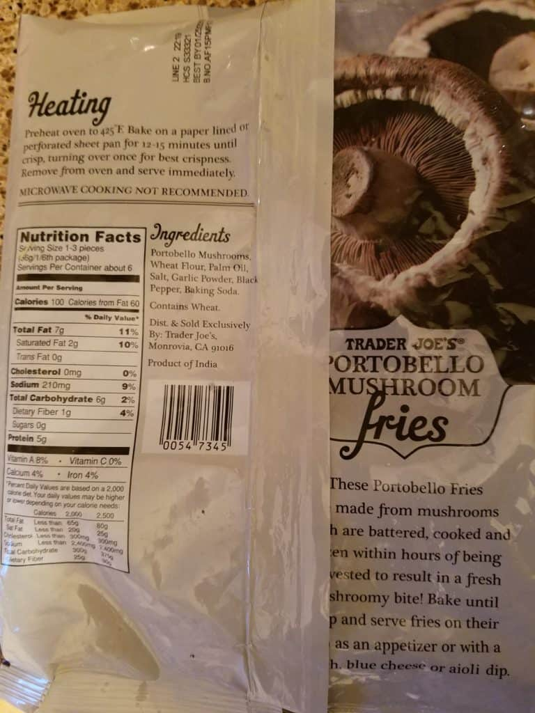 Trader Joe's Portobello Fries