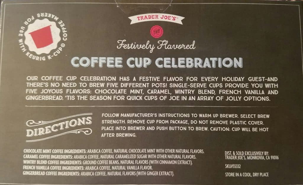Trader Joe's Festively Flavored Coffee Cup Celebration