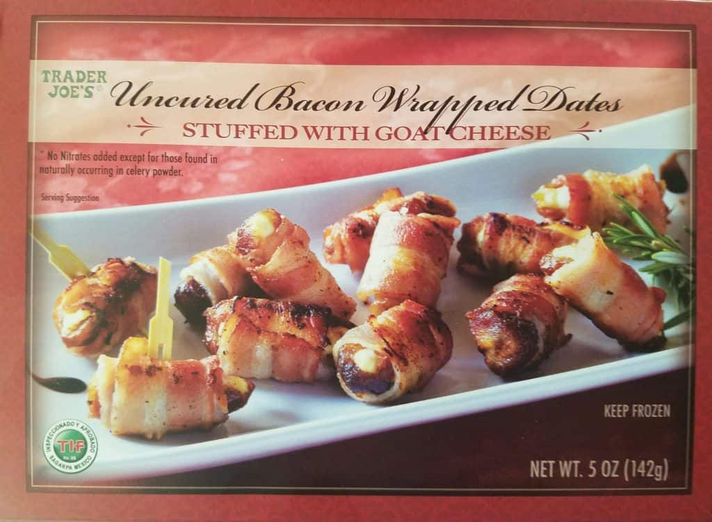 Trader Joe's Bacon Wrapped Dates Stuffed with Goat Cheese