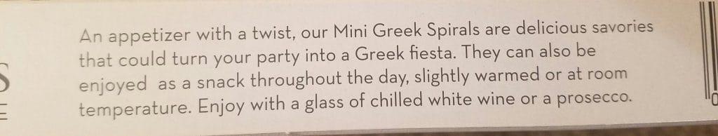 Trader Joe's Mini Greek Spirals