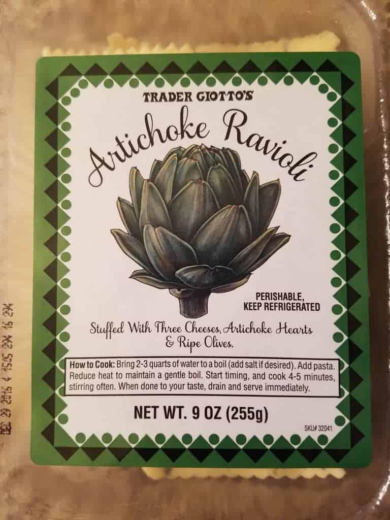 Trader Joe's Artichoke and Cheese Ravioli