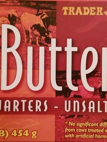 Trader Joes Unsalted Butter Quarters