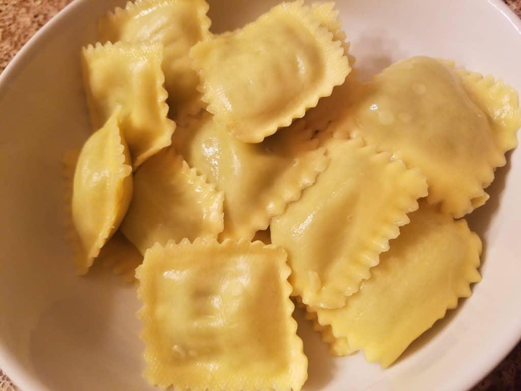 Trader Joe's Arugula and Parmigiano Reggiano Ravioli