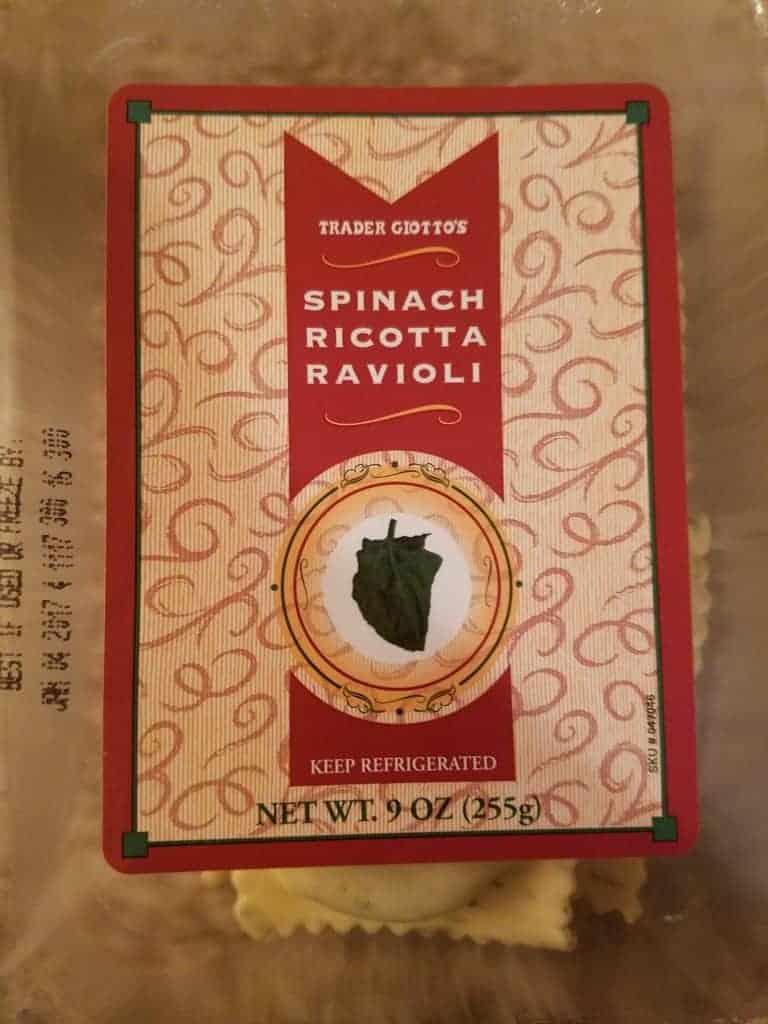 Trader Joe's Spinach Ricotta Ravioli