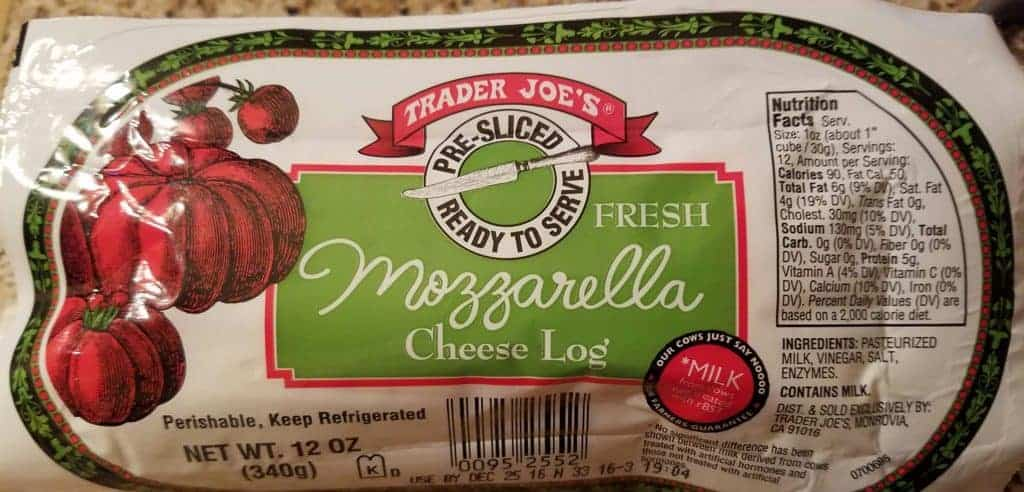 Trader Joe's Pre-Sliced Mozzarella